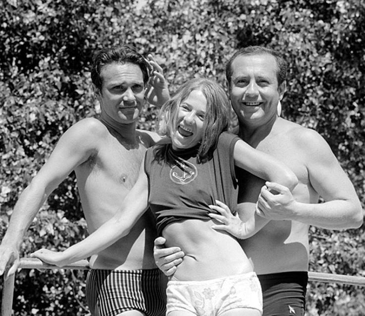 Tordy Géza ,Törőcsik Mari és Kállai Ferenc Balatonfüreden 1968