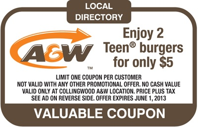 A Enjoy 2 Teen Burgers for only $5