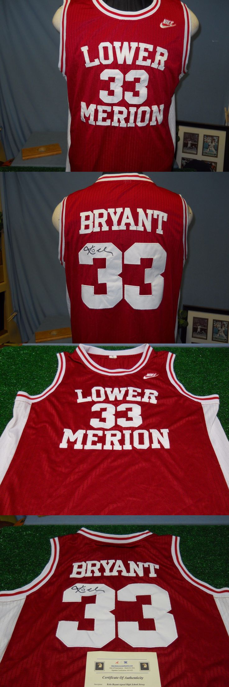 9fb032090 ... Basketball-Other 205 Kobe Bryant Signed Certified Lower Merion High  School Jersey ...