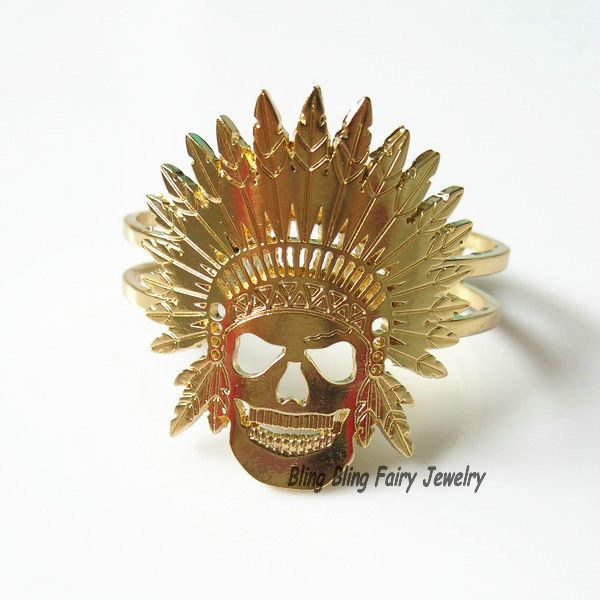 Find More Bangles Information about Indian Chief Cuff Bracelet, Indian Skull Bracelet, Indian Headdress Cuff Bangle,High Quality bangle silver bracelet,China bangle bracelets for men Suppliers, Cheap bangle ring from Bling Bling Fairy Jewelry on Aliexpress.com