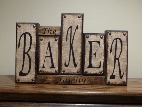 Letter Blocks Personalized Custom Letter Name Blocks Family