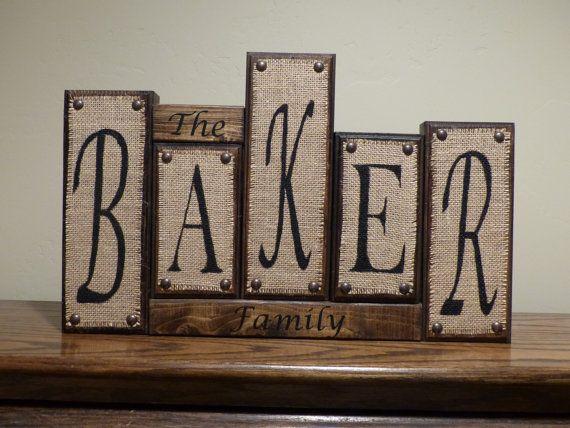 Letter Blocks Personalized Custom Letter Name Blocks Family Name Home Decor Wood Name Blocks Letter Blocks Home Decor Custom Christmas Gift