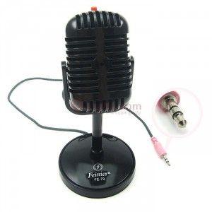 Retro Microphone, Retro mikrofoni(mustana) - e-ville.com 10,95€
