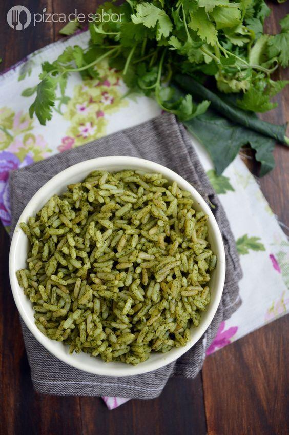 Cómo hacer arroz verde con cilantro y espinaca - Pizca de Sabor: