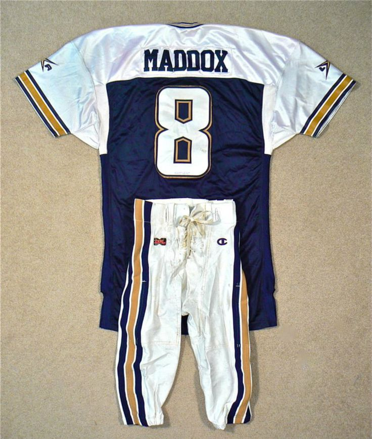 xfl football league | Tommy Maddox Los Angeles Extreme Game Worn XFL Jersey & Pants Set ...