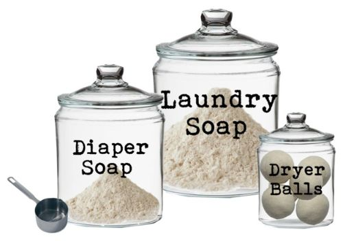 All-natural Homemade Castile Laundry Soap Recipe {Fels Naptha and Borax Free} 1 5-oz. bar Dr. Bronner's pure castile soap 1/2 c. washing soda 1/4 c. baking soda 1/4 c. Celtic sea salt 16 c. water, divided (for liquid soap only)