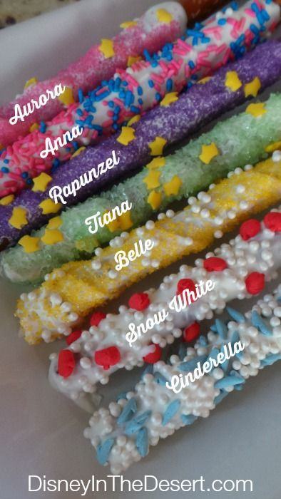 Disney Princess Pretzel Snacks recipe. Perfect idea for a party!