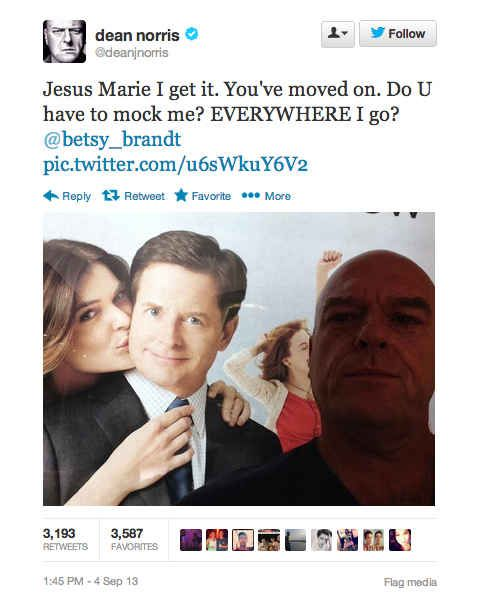 "Community: 18 Surprisingly Funny Tweets From ""Breaking Bad""'s Dean Norris"