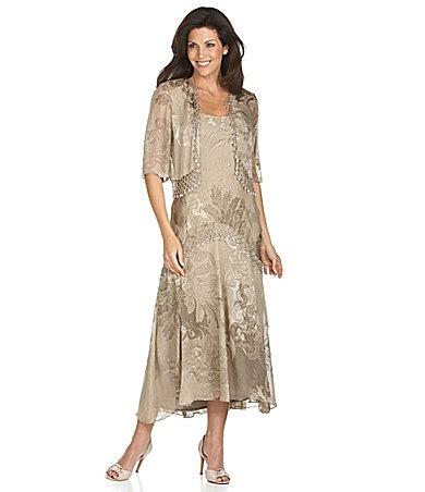Chiffon jacket dress mother of the bride dresses pinterest for Dillards wedding dresses mother of the bride
