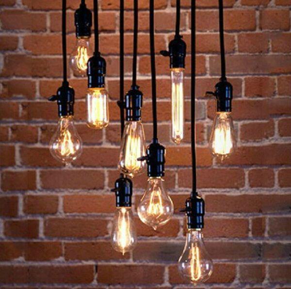 Barato Pingente Vintage E27 soquete de lâmpada E27 Base da lâmpada com fora do interruptor preto ( comprimento : 1.2 m / 2 m / 3 m / 4 m ), Compro Qualidade Luzes de pingente diretamente de fornecedores da China: High Quality E27 Screw Retro Pendant Lamp Holder With Switch AC 90-260V+Wire+Ceiling Base Free ShippingUS $ 9.99/pieceE2