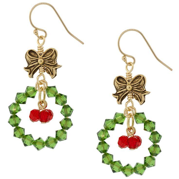 Festive Wreath Earrings                                                                                                                                                                                 More