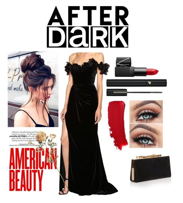 """After the after party"" by chechylmiliani on Polyvore featuring Marchesa, Jimmy Choo, NARS Cosmetics and Lancôme"