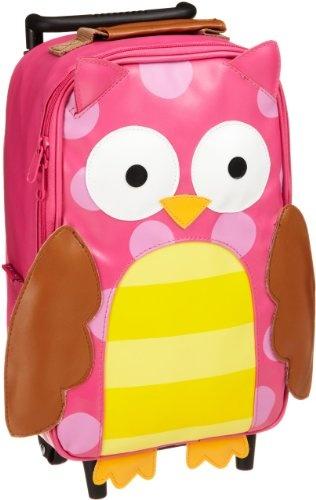 Amazon.com: Stephen Joseph Girls 2-6x Girl's Rolling Backpack, Owl, One Size: Clothing