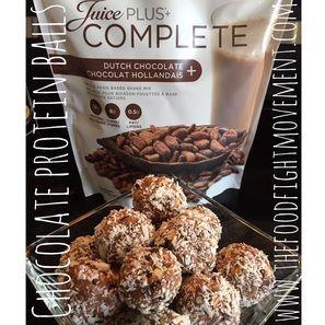 No Bake Chocolate Protein Balls