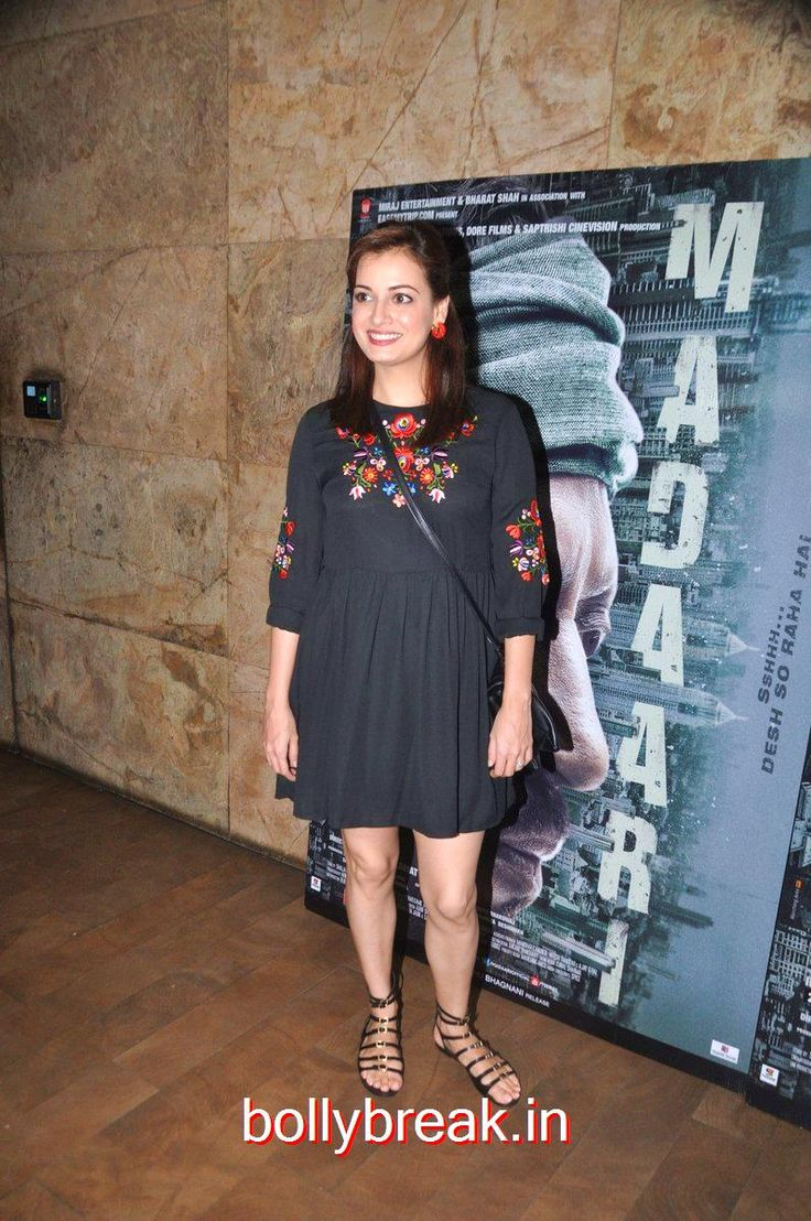 Dia Mirza hot Photos at Madaari screening - 8 Pics