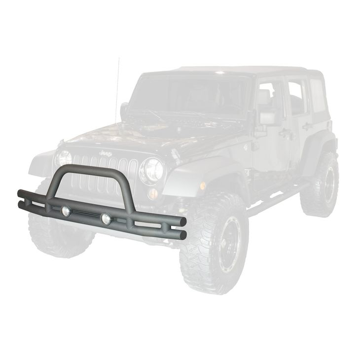 Double Tube Front Bumper, 3 Inch; 07-16 Jeep Wrangler JK