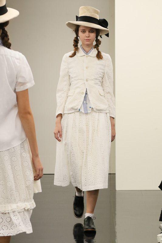 COMME des GARÇONs plain white simple two piece loose fit  lets the skin breathe lace type material buttons