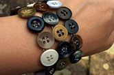recycled button cuff