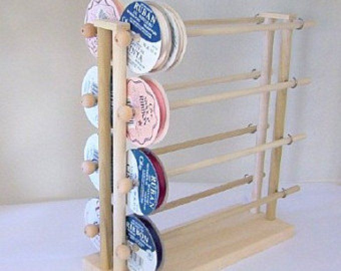 Ribbon Holder Storage Wire Rack Organizer Holds 75 Spools Ribbon