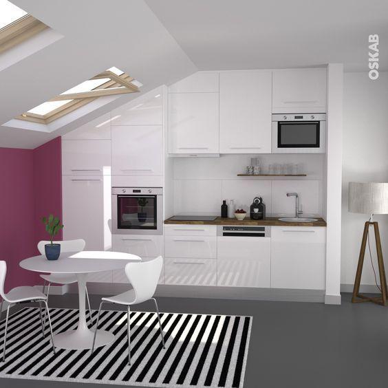 Image de cuisine amnage trendy cuisine blanche mur aubergine peinture de cuisine cuisine rouge for Cuisine blanche mur framboise