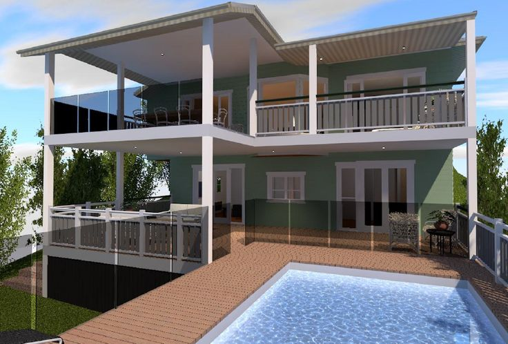 A new pool and deck designed for a stunning property in Newmarket.