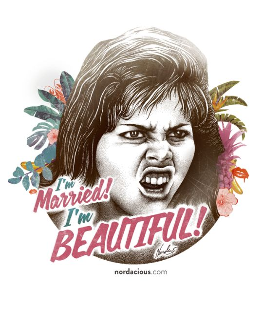 I'm Married! I'm Beautiful! Muriel's Wedding inspired art work by Nordacious