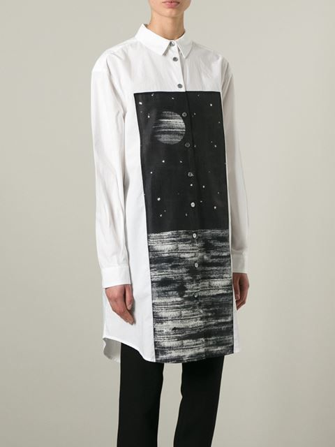 Marc By Marc Jacobs Galaxy Print Shirt Dress - O' - Farfetch.com