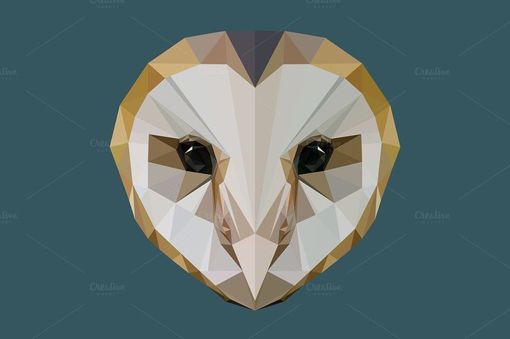 Low poly owl by FeralChildren on @creativemarket
