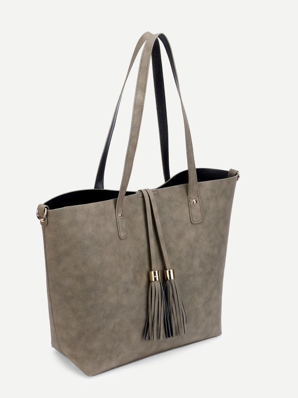 Shop Tassel Detail PU Tote Bag online. SheIn offers Tassel Detail PU Tote Bag & more to fit your fashionable needs.