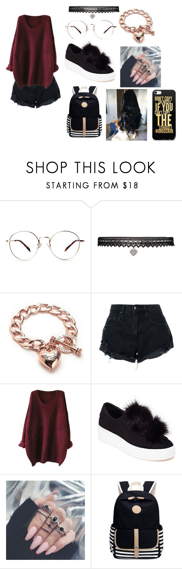"""""""Sem título #1001"""" by samaralucia on Polyvore featuring moda, Betsey Johnson, Juicy Couture, Nobody Denim e Steve Madden"""