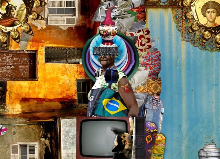 Colagens para apresentação da novela Salve Jorge - Rede Globo - Brasil. Série com 5 trabalhos relacionadas a Capadócia - Istambul - Brasil (Morro do Alemão - RJ) :: Collages for presenting novel Salve Jorge - Rede Globo - Brazil. Series with 5 jobs related to Cappadocia - Istanbul - Brazil (Morro do Alemão - Rio de Janeiro).  marcia@substancia4.com.br