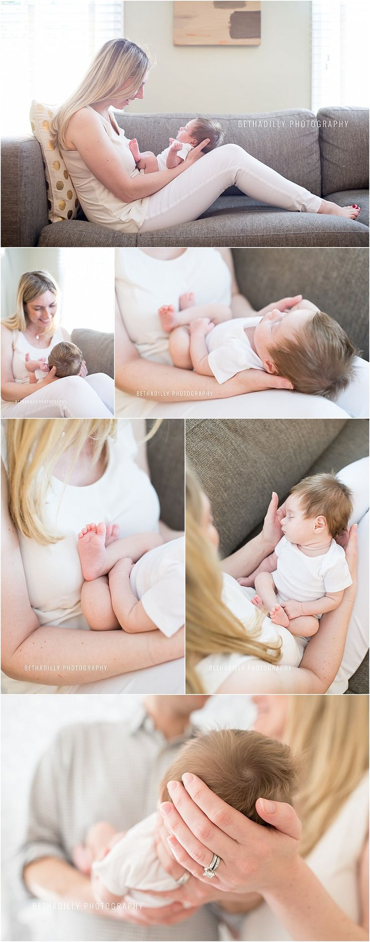 At Home With Baby | Fairfax Lifestyle Newborn Photographer | Bethadilly Photography