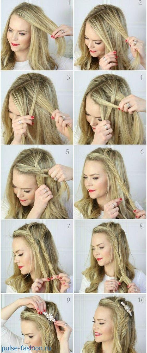 Косы на короткие волосы. Схемы плетения | Pulse Fashion
