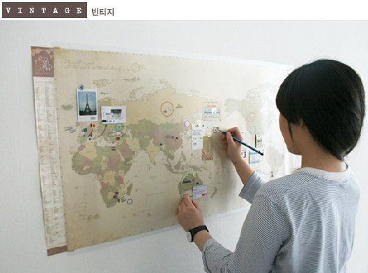 Carte de voyage World 3 Types  VINTAGE / colorés / par DubuDumo