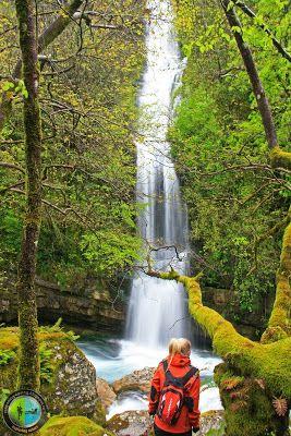Great waterfall near Kalarrites, south Pindus, Greece