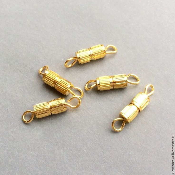 Купить Замок металл латунь с позолотой винтовой застежка для украшений - фурнитура для украшений, фурнитура для бижутерии