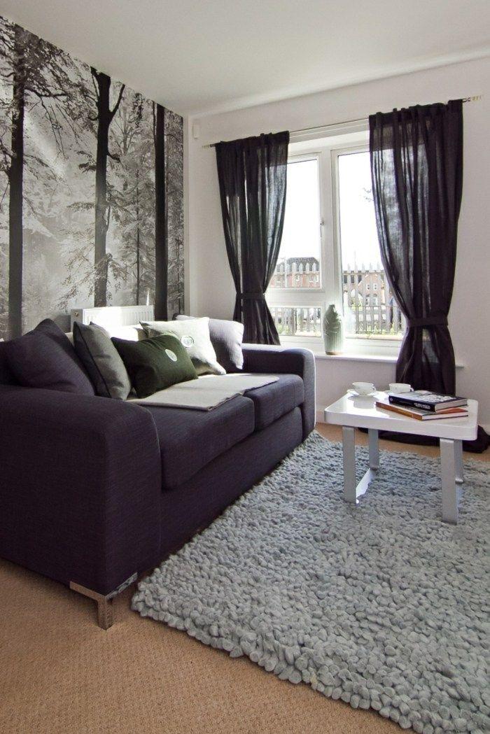 Gardinen Wohnzimmer Schwarz – Gardinen Wohnzimmer