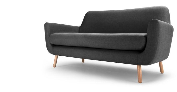 Jonah, canapé 2 places, gris de Payne