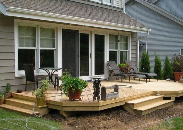 Idei De Terase Din Lemn Care Transforma Curtea Intr Un Spatiu Confortabil Construita In Partea Din Spate A Casei Terasa D Patio Patio Design Wood Deck Designs