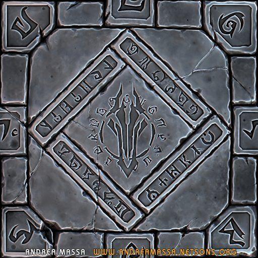 ArtStation - Darksiders II Inspired Tilable Floor Texture V1 (WIP), Andrea Massa