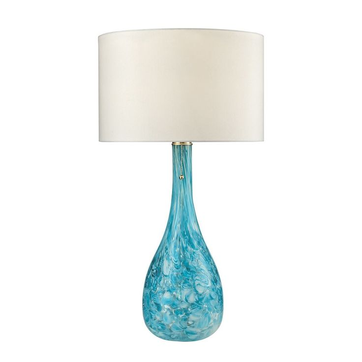 Mediterranean Blown Glass Table Lamp in Seafoam by Dimond Lighting