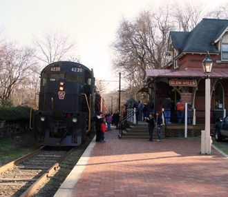 West Chester Railroad - West Chester, PA. Family or couples fun!  Various Train rides with themes especially around the holidays! Very relaxing and enjoyable.
