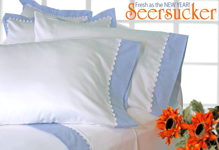 Freshen Up Your Sheet Sets for the New Year with Seersucker | Sew4Home