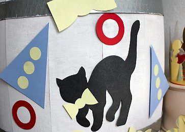 Kreative idéer   Klip flot pynt i karton til fastelavnstønden.