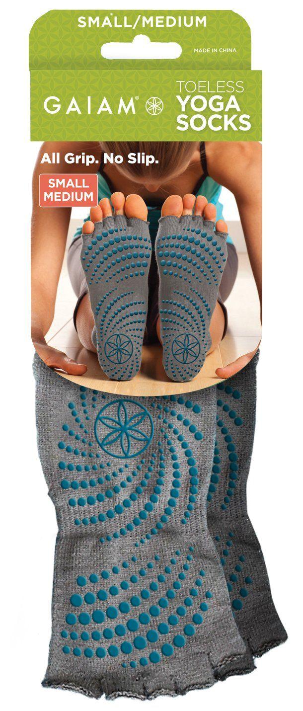 Gaiam Chaussettes de yoga antidérapantes sans orteils: Amazon.fr: Sports et Loisirs