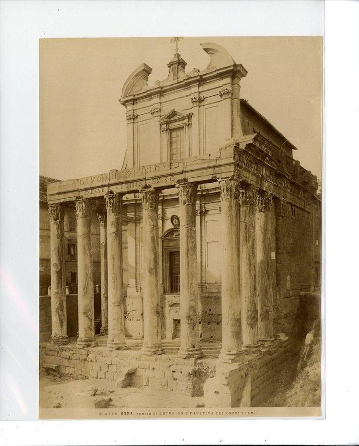 Anonyme  Italie. Roma Tempio di Antonino e Faustina Coi Nuovi Scavi. Temple d&#0 | Collections, Photographies, Autres | eBay!