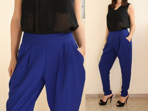 blue pants womens - Pi Pants