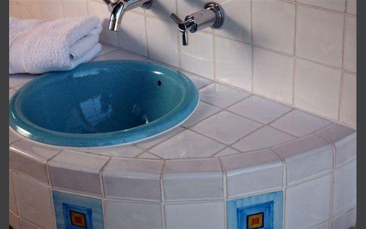 Vasque à encastrer Ondine bleu lagon diamètre 40 x h 19 cm