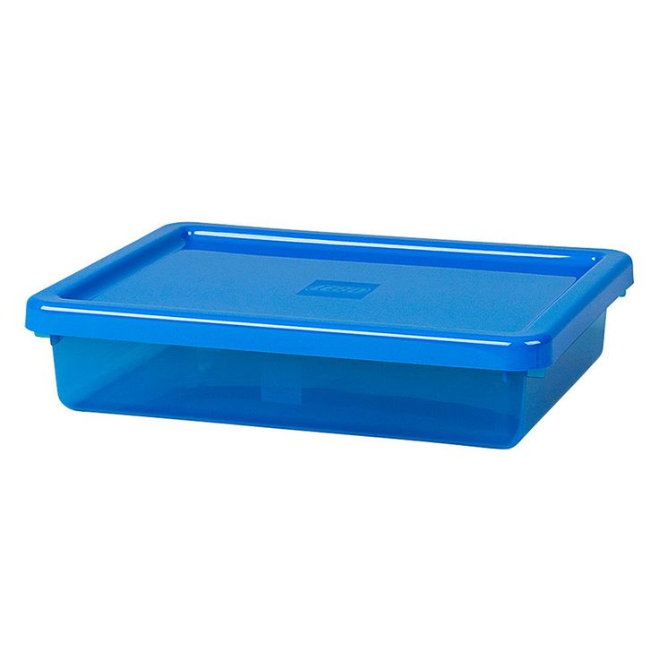 LEGO Small Storage Box with Lid by Room Copenhagen, Blue