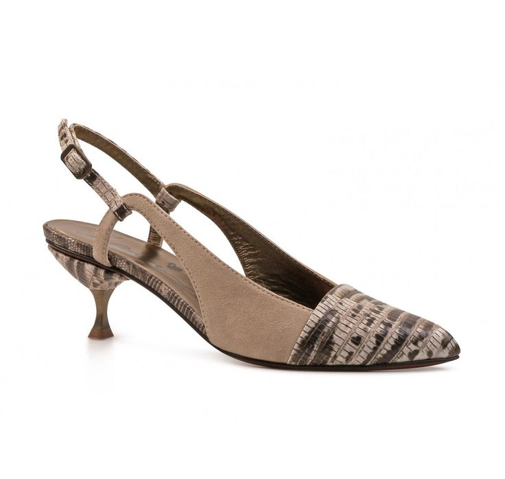 Lanvin beige leather slingback pumps (AW5B4NKIDP7A) - Bledoncy